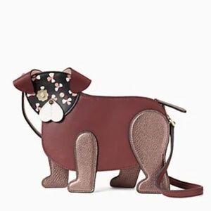 NWT Kate Spade Dog Floral Pup Crossbody Bag Purse